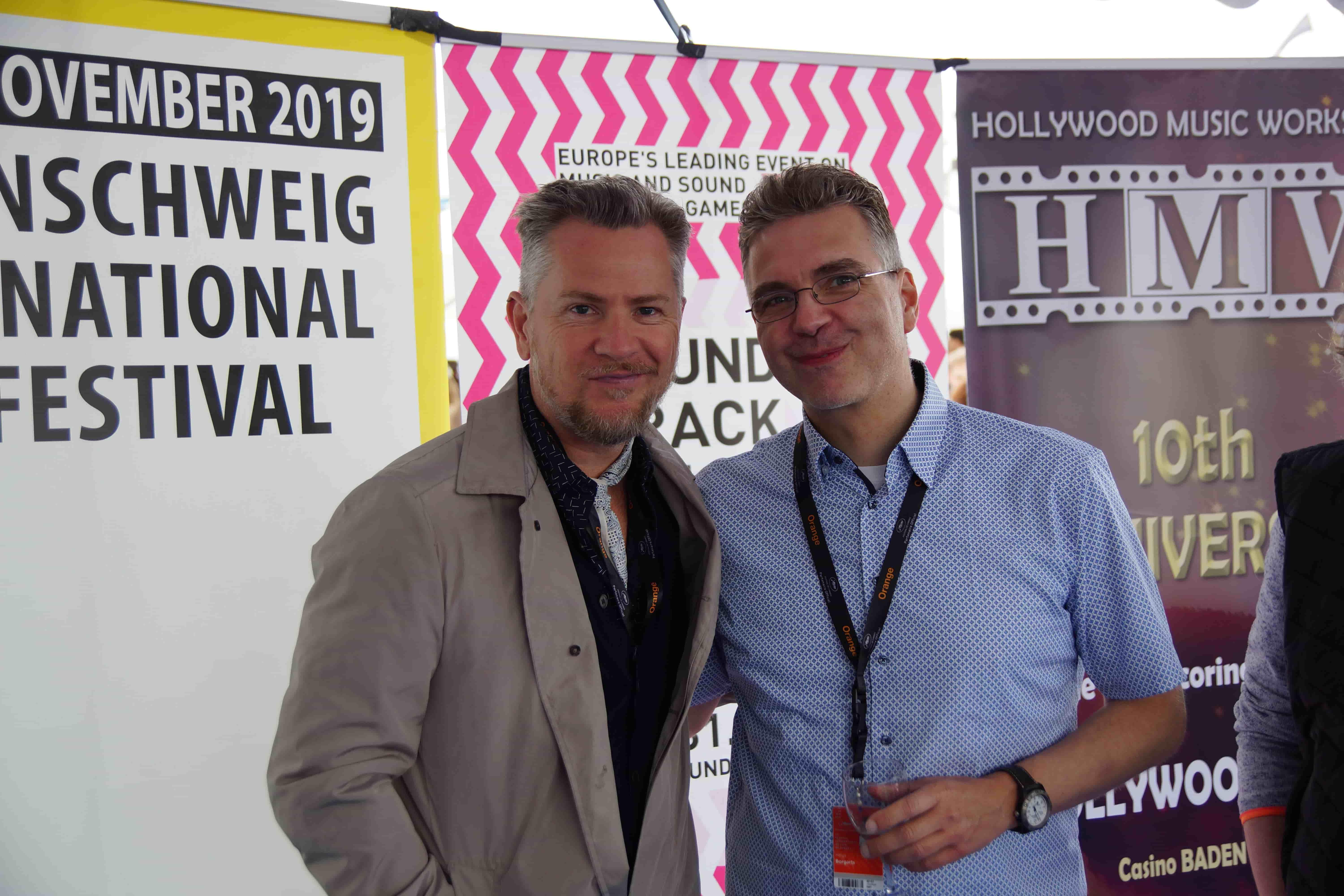 Thomas Mikusz (White Bear PR) and Helge Borgarts (Head of Programme Games at STC)