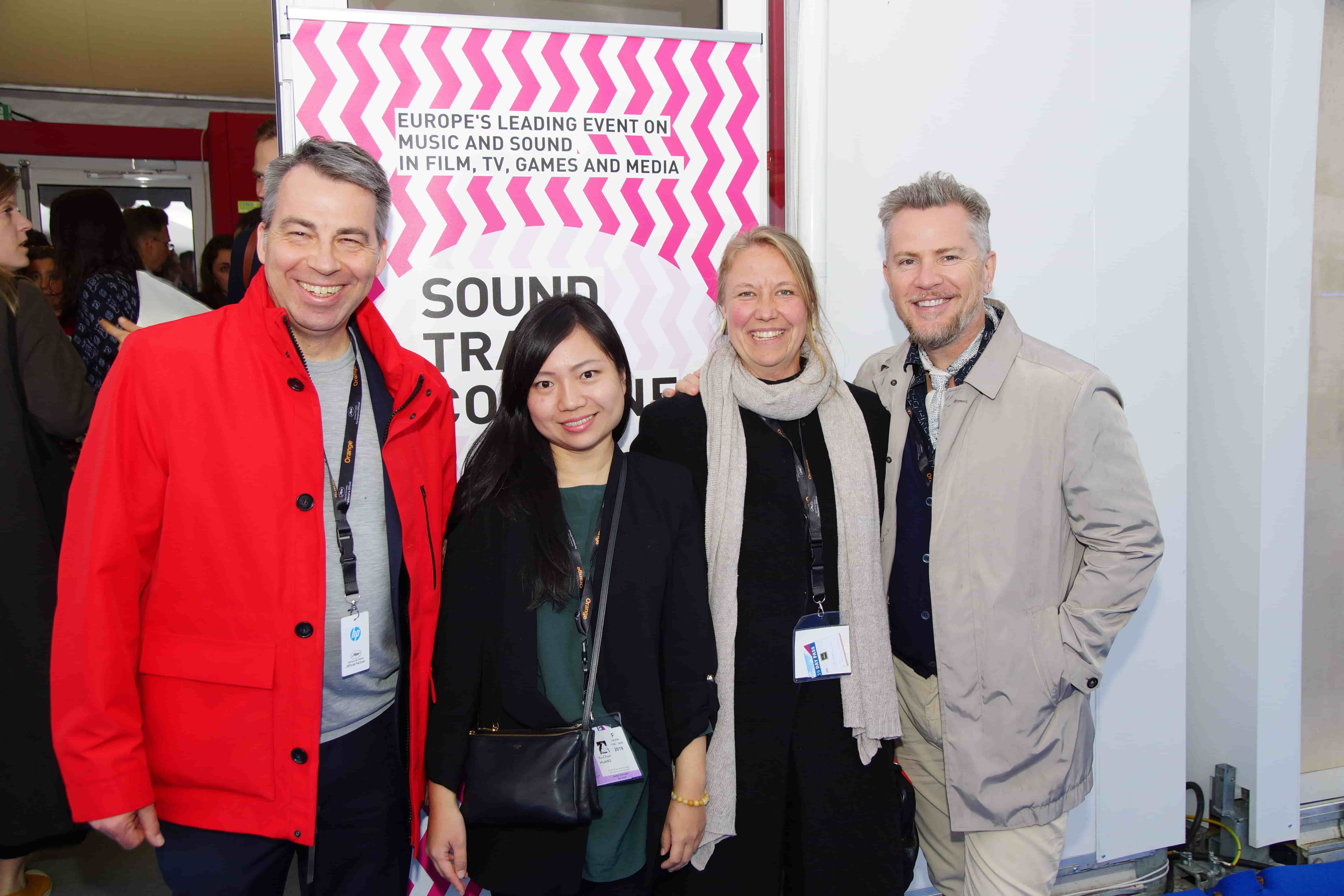 Michael Aust (Director STC), Yu-Chun Huang & Franziska Pohlmann (Track15 Female Composers Collective ), Thomas Mikusz (White Bear PR)